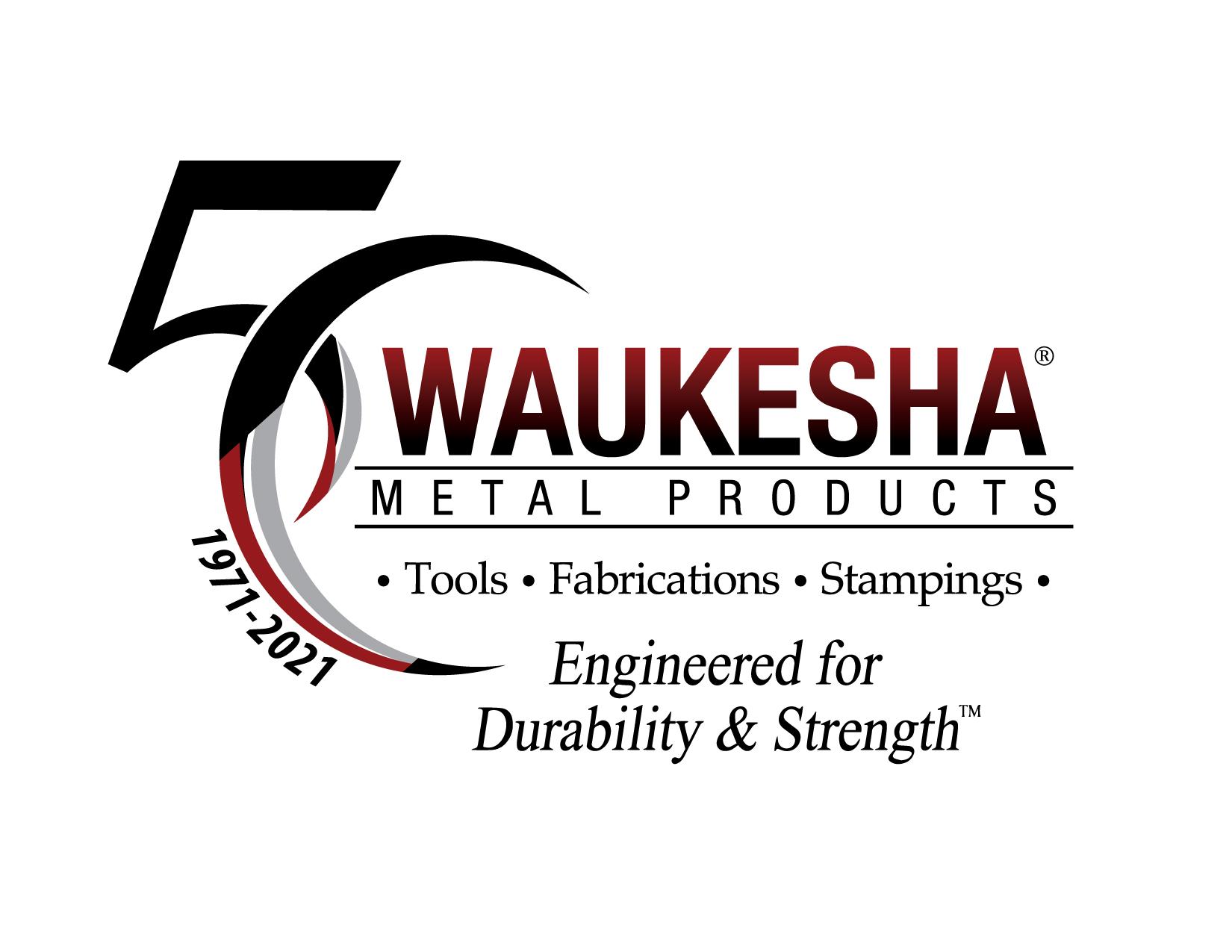 Waukesha Metal Products 50th Anniversary Logo
