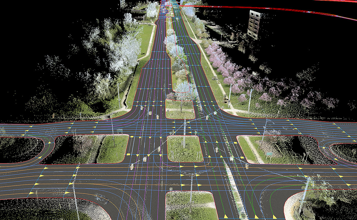 In self-driving age, digital maps are crucial on