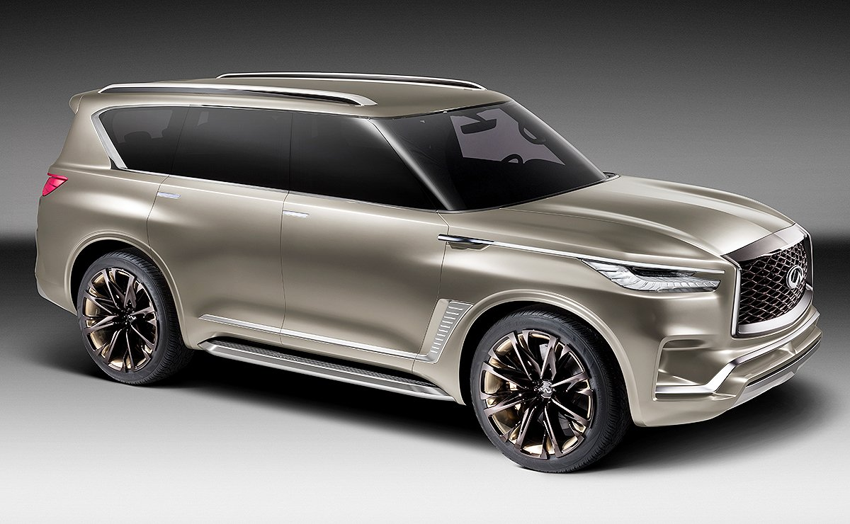 The Qx80 Monograph Shown Here Reveals Where Infiniti Is Taking Including A Blacked Out Pillar