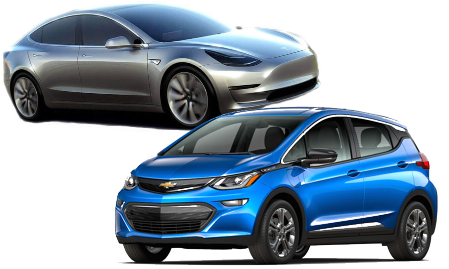 Tesla Model 3 Vs Chevy Bolt How They Compare