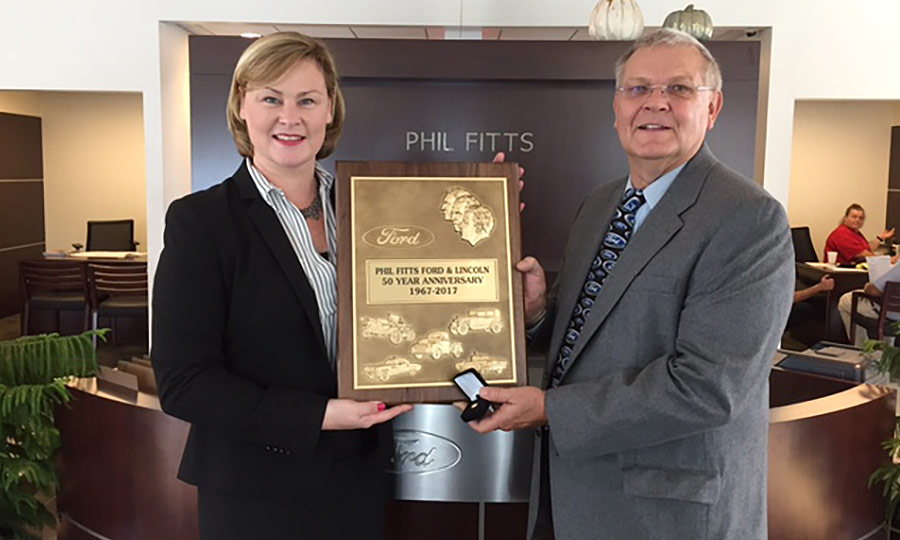 Phil Fitts Ford >> Dealer Anniversaries