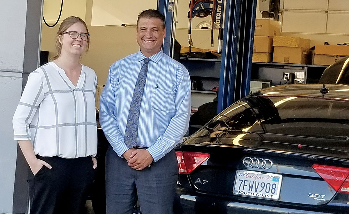 At Audi Fletcher Jones in Costa Mesa, Calif., Samantha Jones and Dan Schmidt say cooperation between service and sales builds profits and customer ...