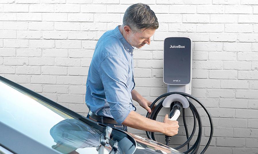 Enel X Biogen Juice Box EV charging station