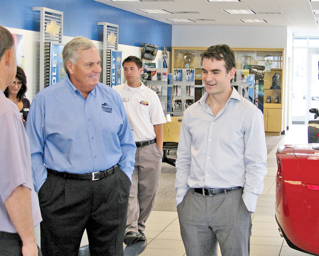 Racer Gives Chevy Store Star Power