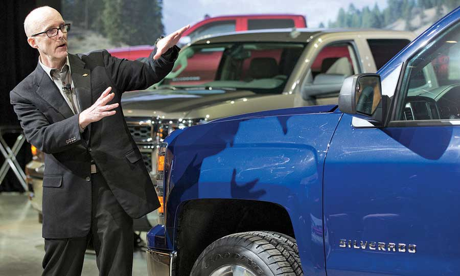 Tom Peters With The Redesigned Silverado Owners Didn T Want It Outrageous Or Over Top