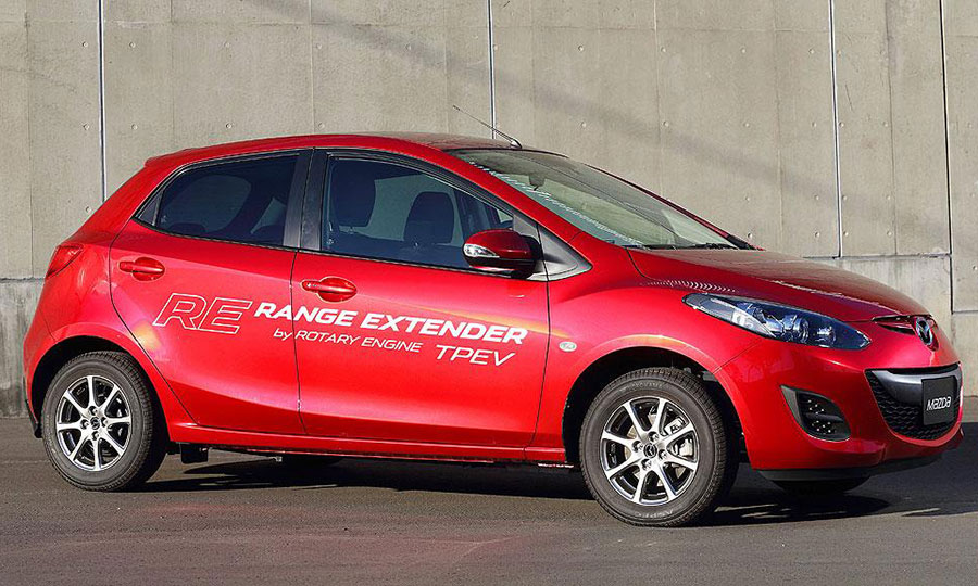 Mazda uses rotary engine to help it go electric