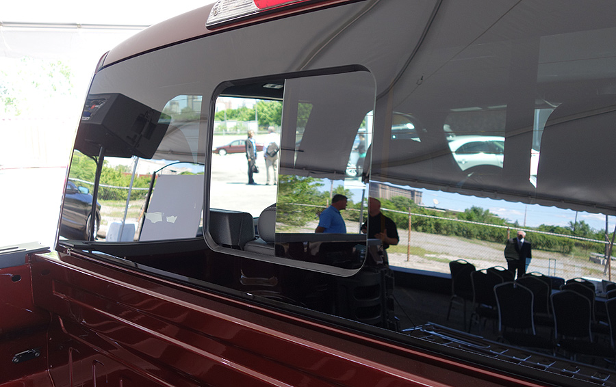 Ford Demonstrates Magnas Seamless Rear Window On New F 150