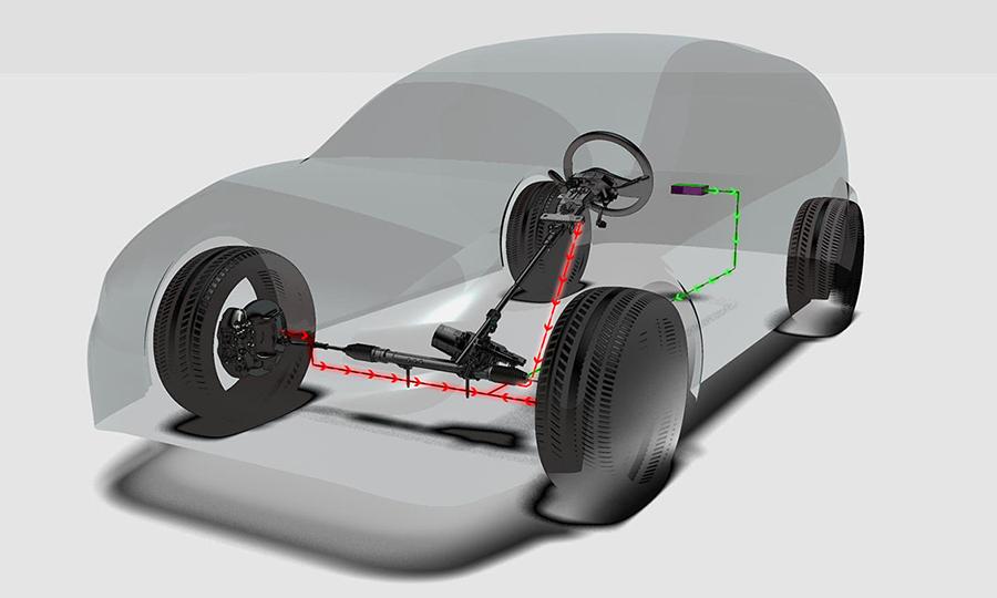 Delphi's PACE Award-winning E-Steer an autonomous vehicle