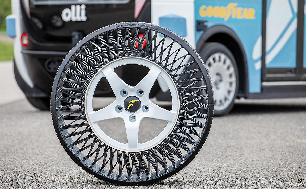 Olli testing Goodyear airless tires