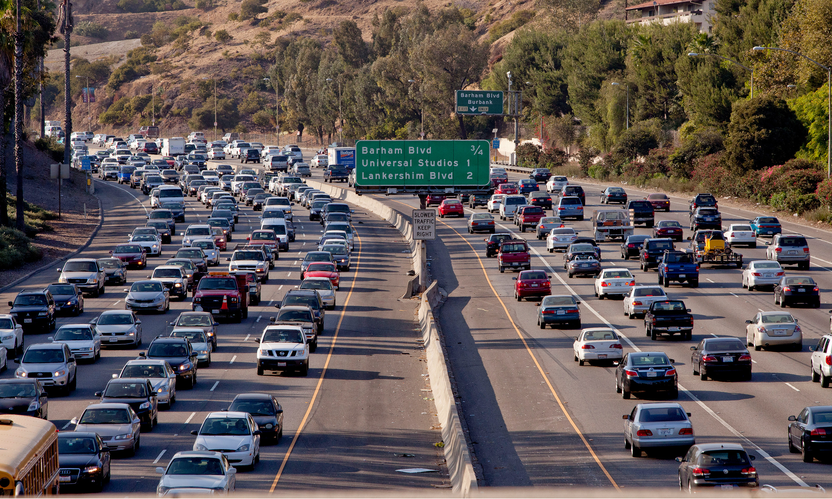 In S  California, signs love affair with car is waning
