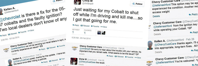 GM uses social media to respond to customer gripes