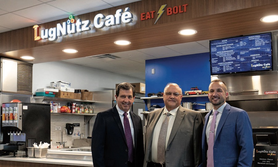 From Left, Mike Filomeno, Bryan Marcotte And Mike Marcotte Say Marcotte  Fordu0027s LugNutz Cafe Has Helped Boost Sales. U201cPeople Who Have To Go To The  Dealership ...