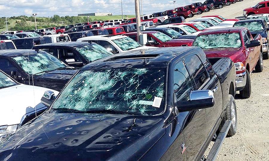 Woodhouse Hail Damage >> Hail Ravages Nebraska S Truck Mountain Store