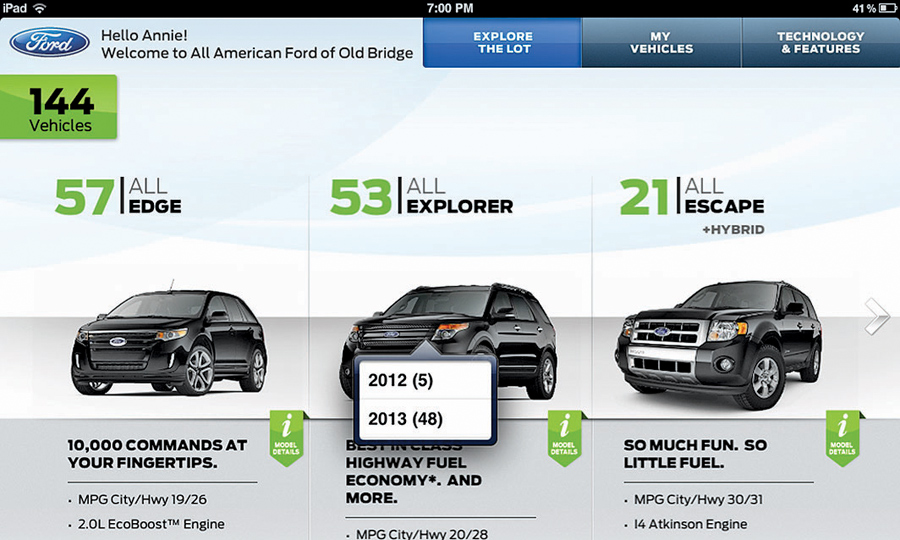 Ford rolls out dealership iPad app