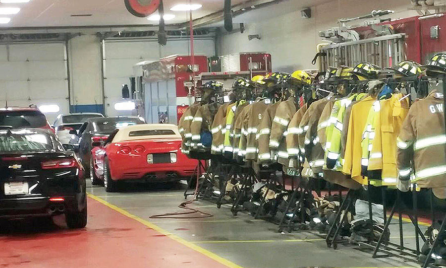 Dealership welcomes the fire department