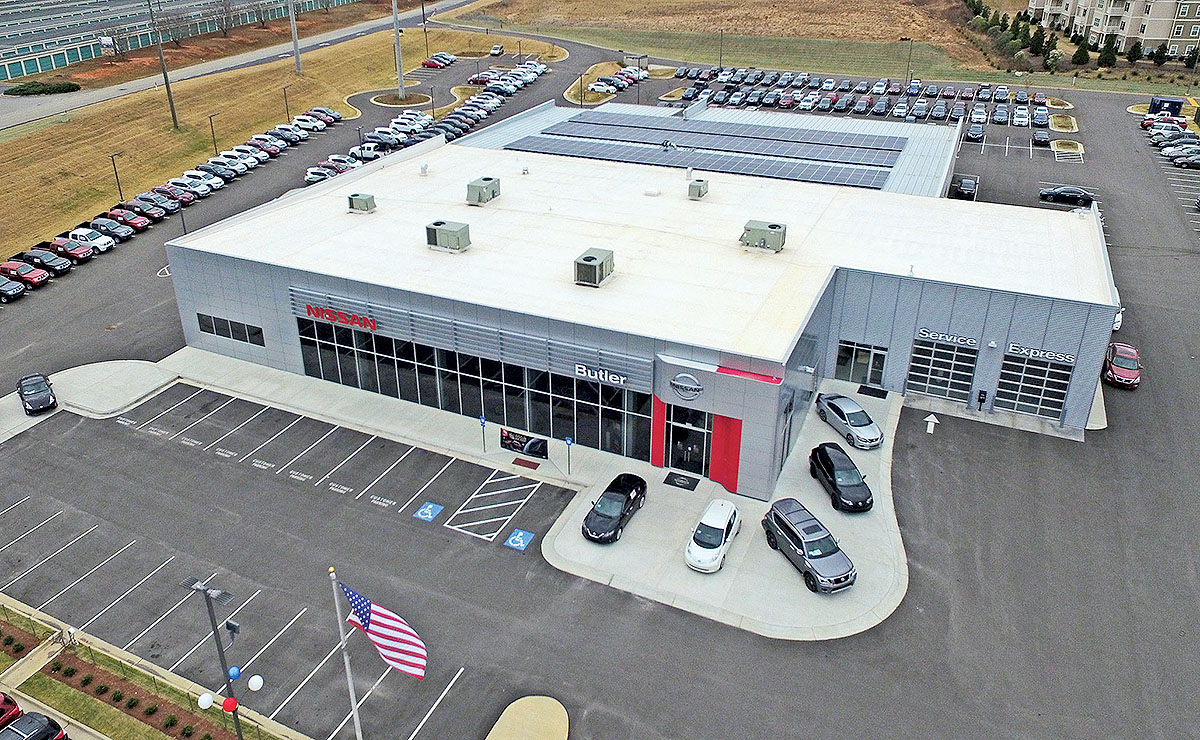 Butler Nissan Macon Ga >> Best Practices A Well Lighted Lot Powered By The Sun
