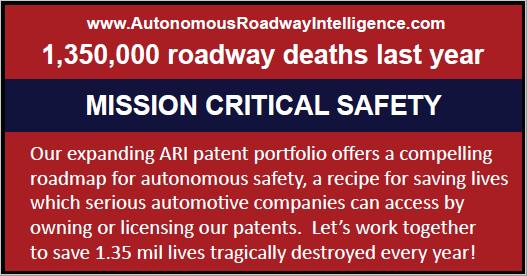 Autonomous Roadway Intelligence, LLC.
