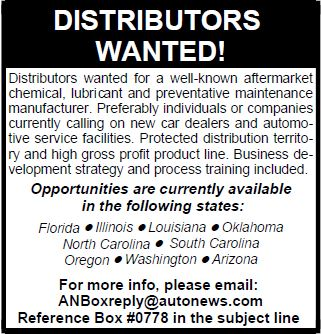 Bardahl Manufacturing - Distributors Wanted