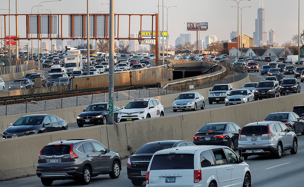 Congested traffic in Chicago