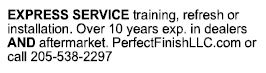 Express service training, refresh, or installation.