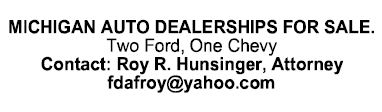 Michigan Auto Dealerships For Sale