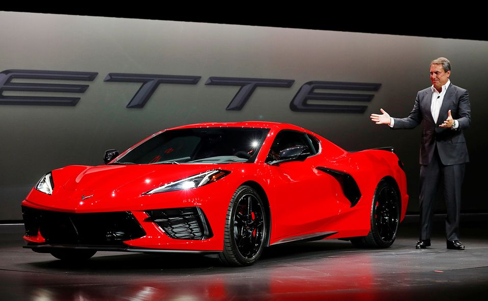 GM President Mark Reuss introduces the retooled 2020 Corvette