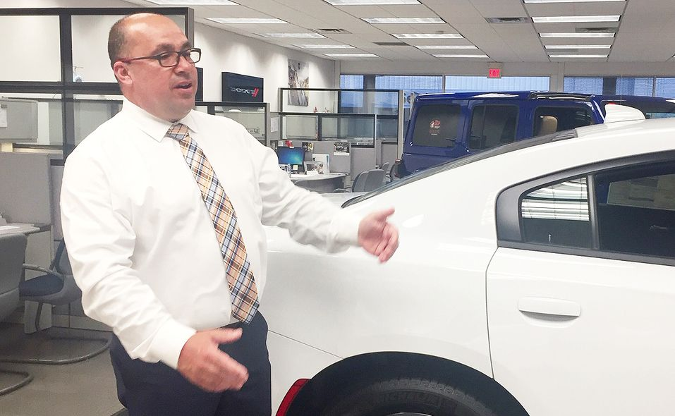 Mike Sarullo became general manager of Flemington Chrysler-Jeep-Dodge-Ram earlier this year, after he was promoted from sales manager. He previously worked at a Lexus store.