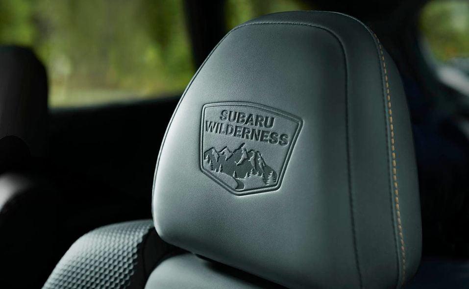 2022 Subaru Outback Wilderness interior badge