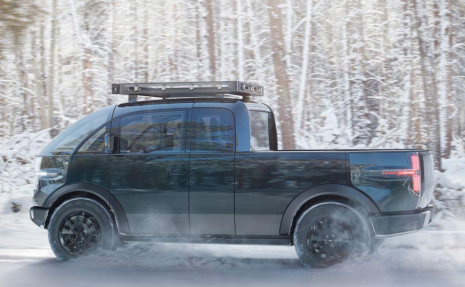 Canoo pickup truck side