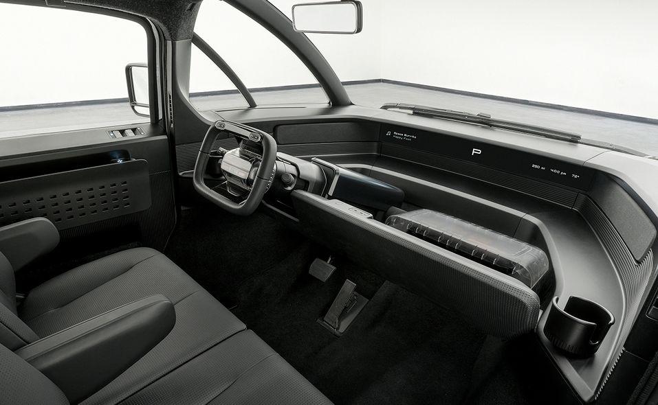 Canoo pickup truck interior