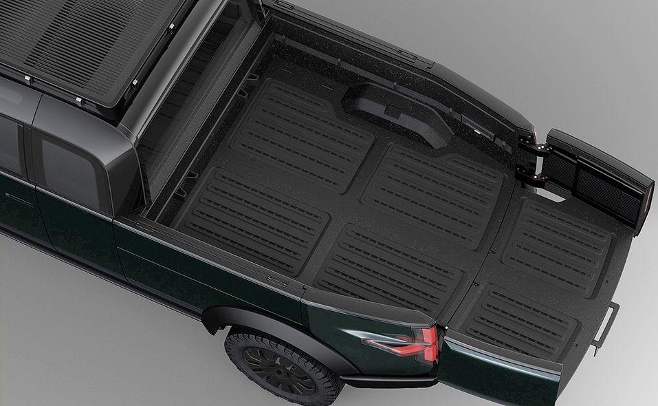 Canoo pickup truck bed