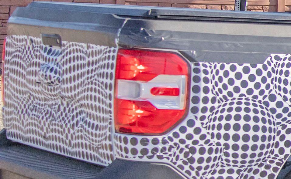 Ford Maverick pickup prototype spy photo taillight