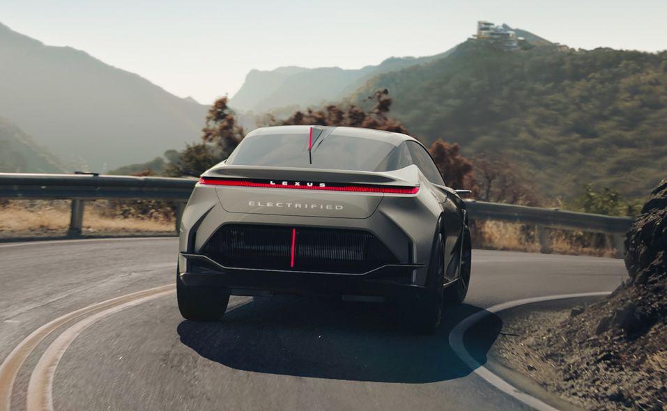 Lexus LF-Z Electrified concept rear turning