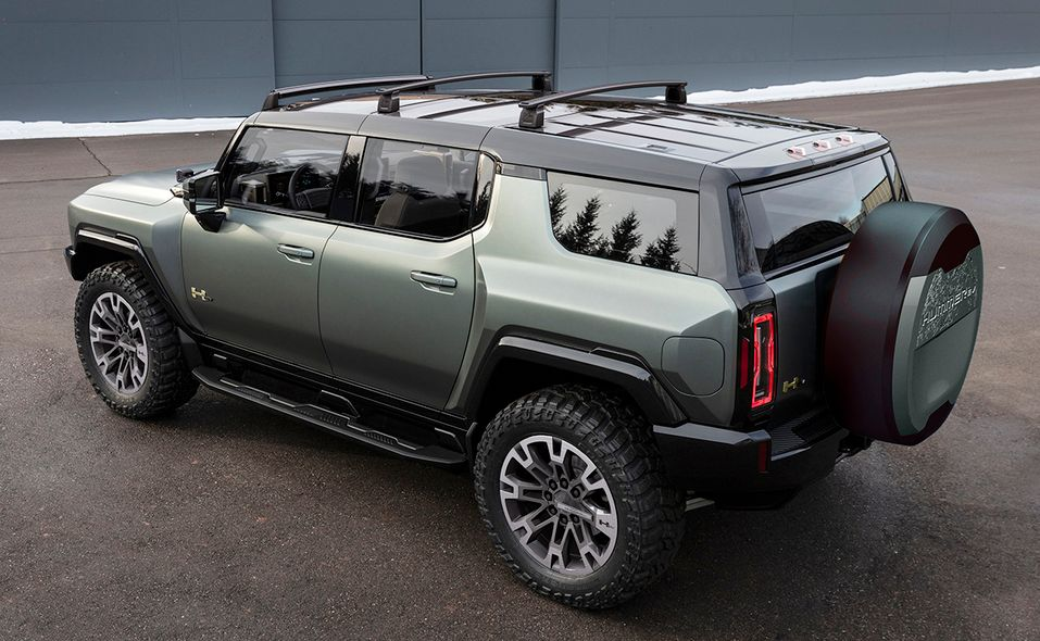 2024 GMC Hummer SUV Edition 1 rear quarter