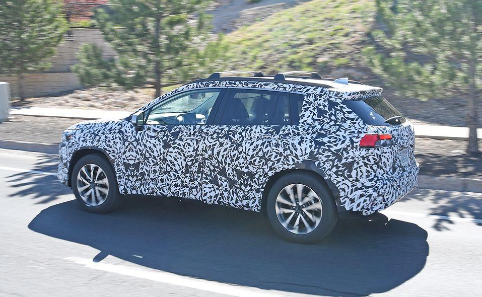 2022 Toyota Corolla Cross spy photo side rear
