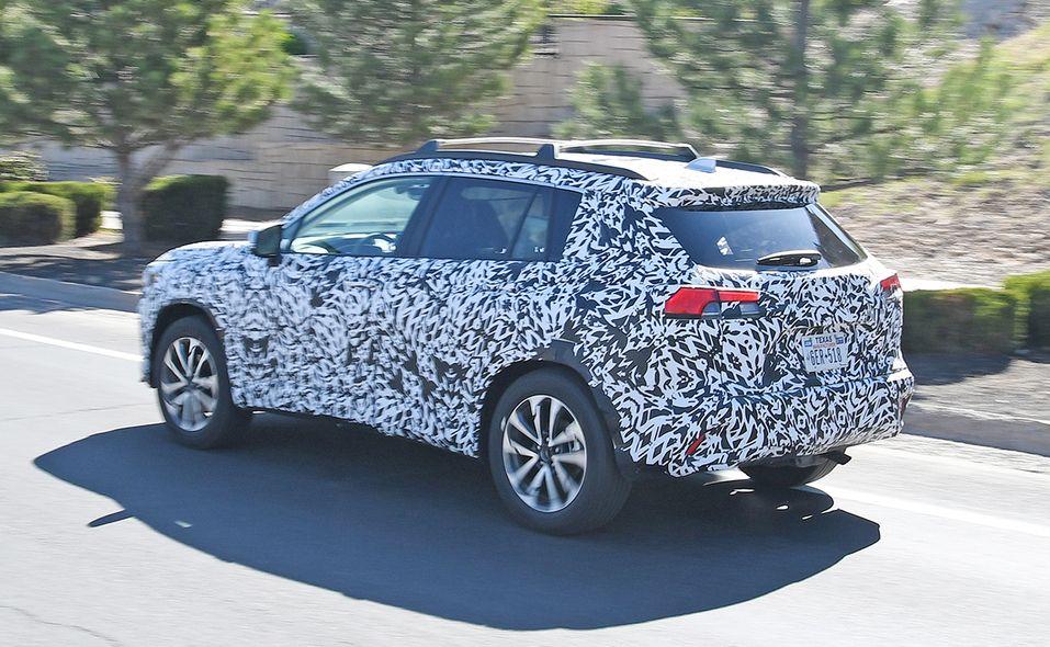 2022 Toyota Corolla Cross spy photo rear quarter