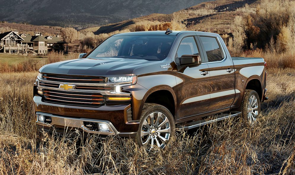 2019 Chevy Silverado with 4-cylinder engine rated at 21 ...