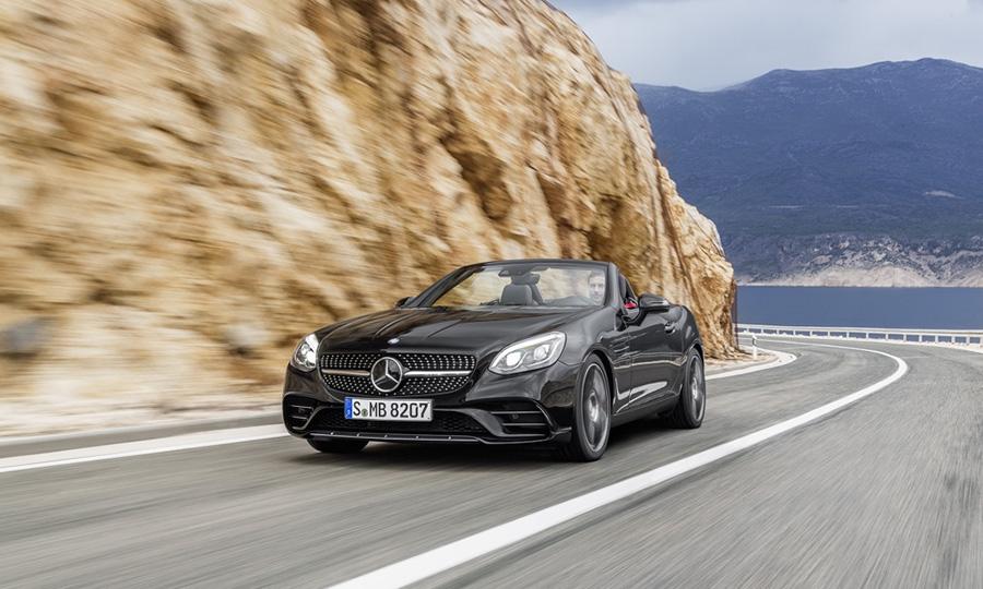 Mercedes Slk Morphs Into Freshened Slc Roadster For 2017