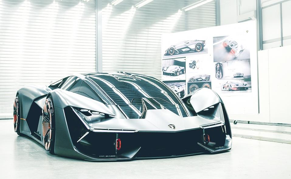 Lamborghini Mit Envision The Self Healing Electric Supercar