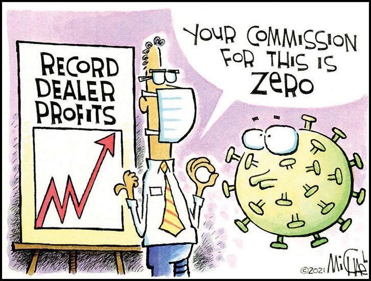 Record Dealer Profits