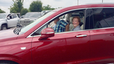 Sally and Barry Ashmen in their new Cadillac XT6 crossover. The longtime Kalafer customers traded in a 2019 Cadillac XT5 because they wanted a bigger vehicle.
