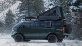 Canoo pickup truck with camping accesories side