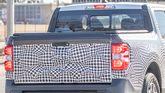 Ford Maverick pickup prototype spy photo tailgate