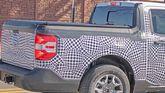 Ford Maverick pickup prototype spy photo taillight detail
