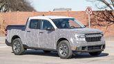 Ford Maverick pickup prototype spy photo side view