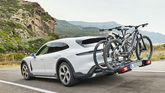 2021 Porsche Taycan Cross Turismo rear with bike carrier