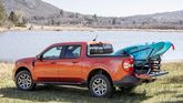 2022 Ford Maverick bed with cargo