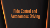 Ride Control and Autonomous Driving
