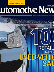 Top 100 Retailers Ranked By Used-Vehicle Sales -- 2020