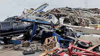 A tornado struck Riley Chevrolet in Jefferson City, Mo., in May.